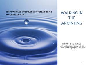 Lesson 9:  The Power and Effectiveness of Speaking the Thoughts of God